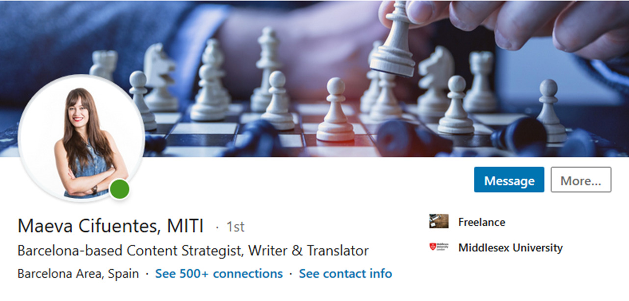 LinkedIn for freelance translators Maeva Cifuentes